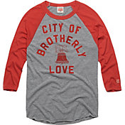 HOMAGE Men's City Of Brotherly Love Grey Raglan T-Shirt