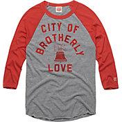 HOMAGE Men's City Of Brotherly Love Grey Raglan T-Shirt