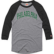 HOMAGE Men's Philadelphia Arch Grey Raglan T-Shirt