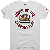 HOMAGE Men's Home Of The Philly Cheesesteak White T-Shirt