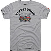 HOMAGE Men's Pittsburgh Sandwich Grey T-Shirt