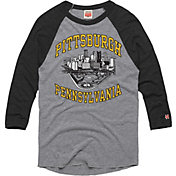 HOMAGE Men's Pittsburgh Downtown Grey Raglan T-Shirt