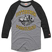 HOMAGE Men's Pittsburgh Downtown Grey Raglan T-Shirt