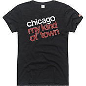 HOMAGE Women's Chicago My Kind Of Town Charcoal T-Shirt