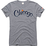 HOMAGE Women's Chicago Heart Grey T-Shirt