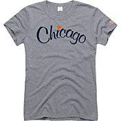 HOMAGE Women's Chicago Heart Grey T-Shirt