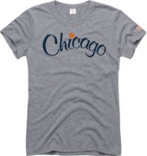 32fde8aa6a630 HOMAGE Women  39 s Chicago Heart Grey T-Shirt
