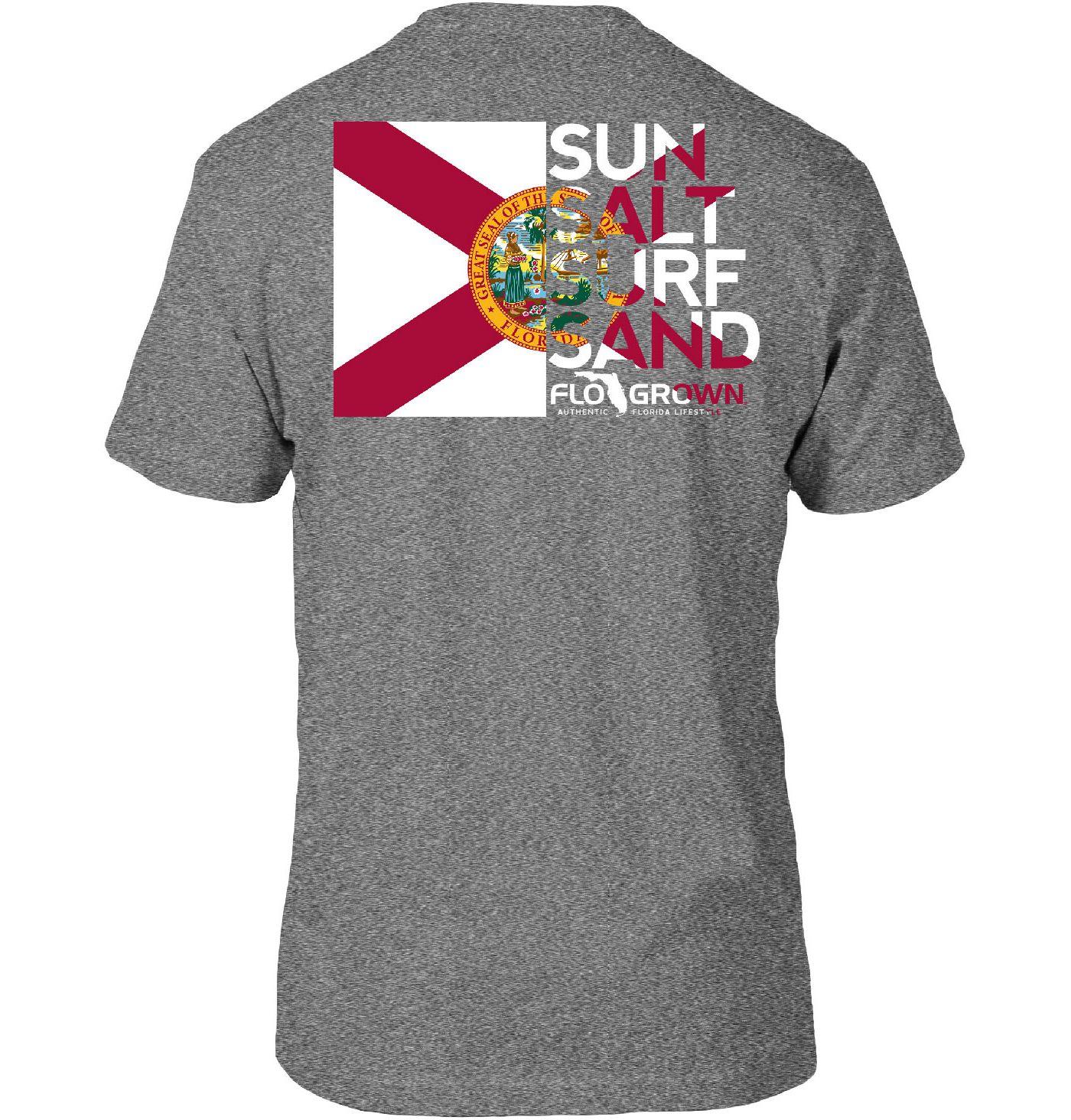 FloGrown Men's Flag Cutout Short Sleeve T-Shirt