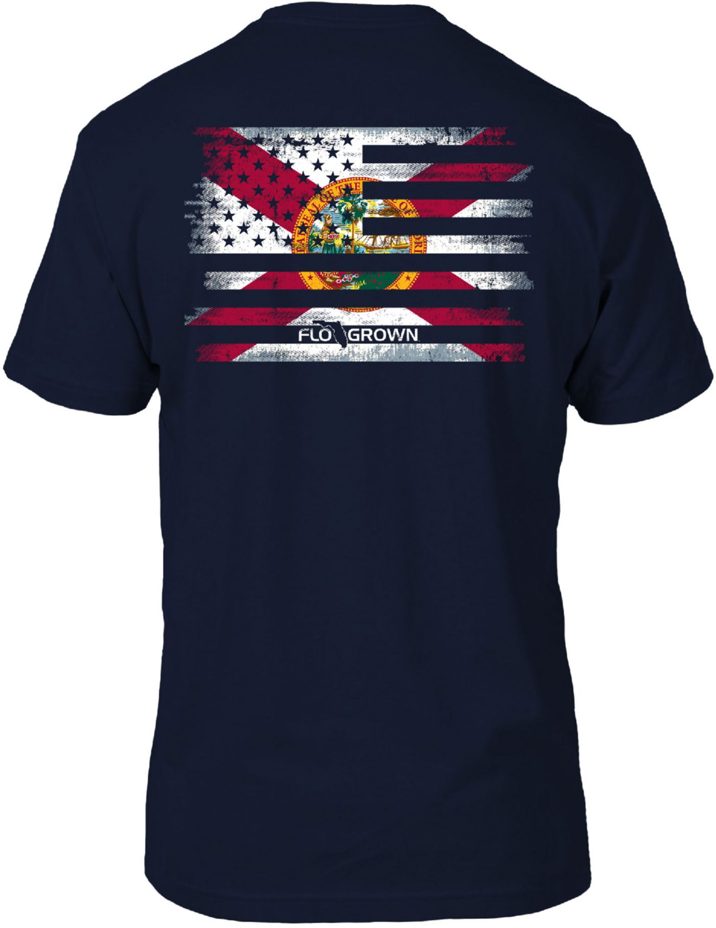 FloGrown Men's Flag Mash Up Short Sleeve T-Shirt