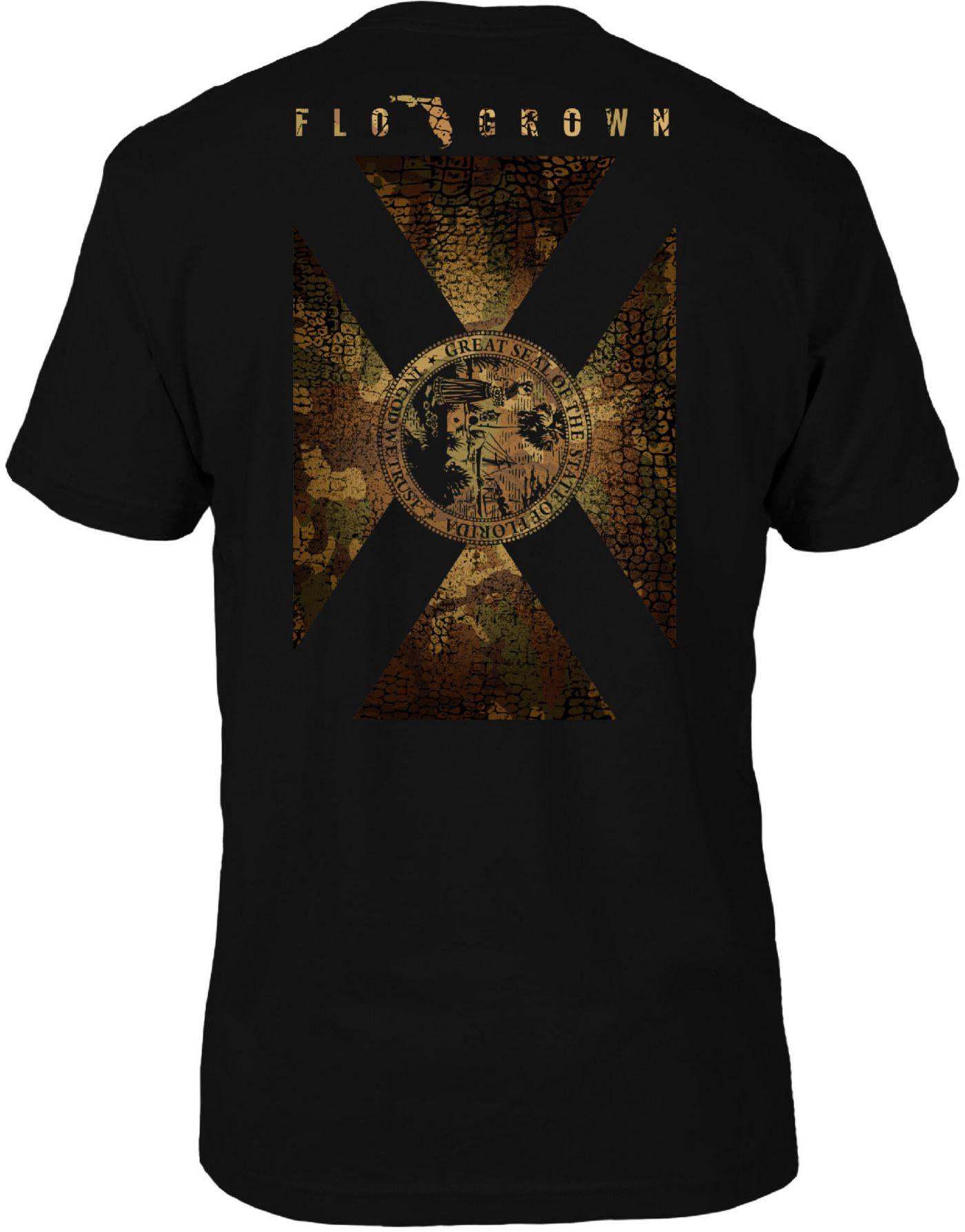 FloGrown Men's Gator Camo Flag Short Sleeve T-Shirt