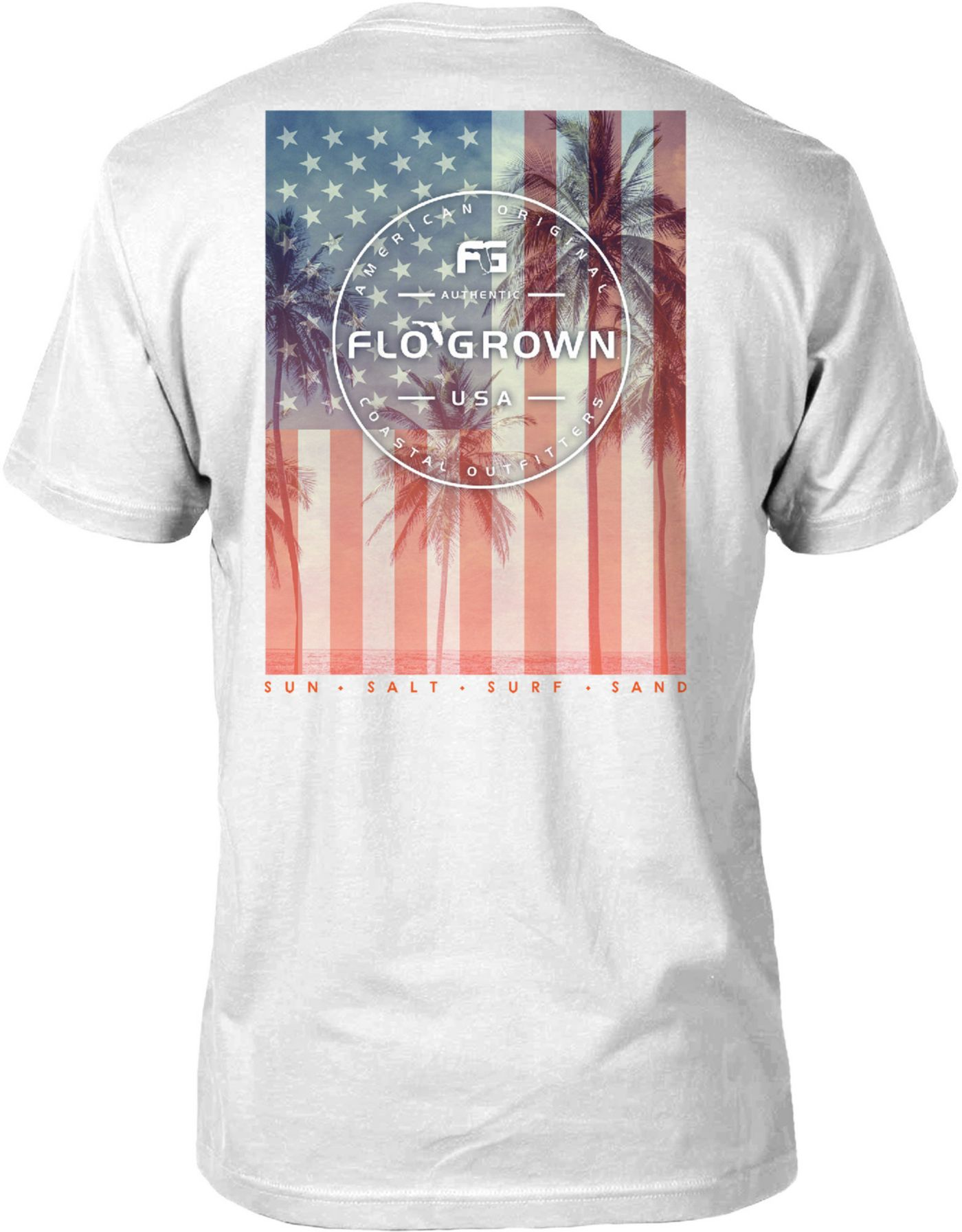 FloGrown Men's USA Palms Poster Short Sleeve T-Shirt