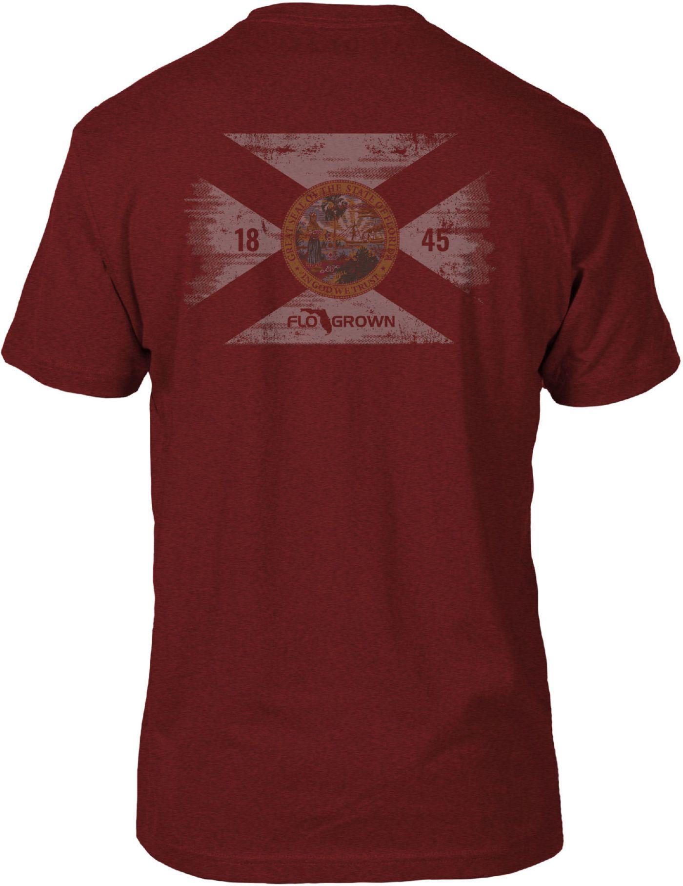 FloGrown Men's Washed Flag Short Sleeve T-Shirt