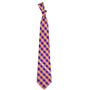 Eagles Wings Clemson Tigers Check Necktie