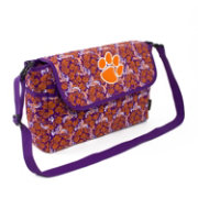 Eagles Wings Clemson Tigers Quilted Cotton Messenger Bag