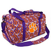 Eagles Wings Clemson Tigers Quilted Cotton Large Duffle Bag