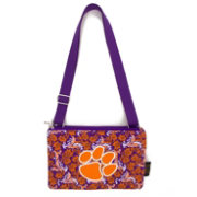 Eagles Wings Clemson Tigers Quilted Cotton Cross Body Purse