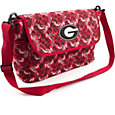 Eagles Wings Georgia Bulldogs Quilted Cotton Messenger Bag