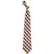 Eagles Wings LSU Tigers Check Necktie