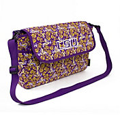 Eagles Wings LSU Tigers Quilted Cotton Messenger Bag