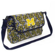 Eagles Wings Michigan Wolverines Quilted Cotton Messenger Bag