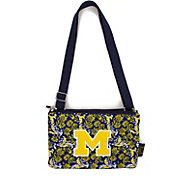 Eagles Wings Michigan Wolverines Quilted Cotton Cross Body Purse