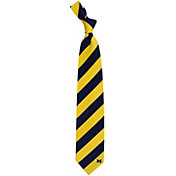 Eagles Wings Michigan Wolverines Woven Silk Necktie