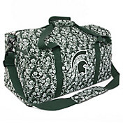 Eagles Wings Michigan State Spartans Quilted Cotton Large Duffle Bag