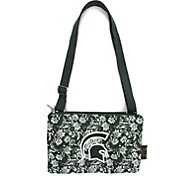 Eagles Wings Michigan State Spartans Quilted Cotton Cross Body Purse