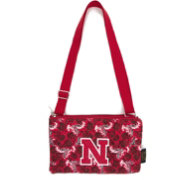 Eagles Wings Nebraska Cornhuskers Quilted Cotton Cross Body Purse