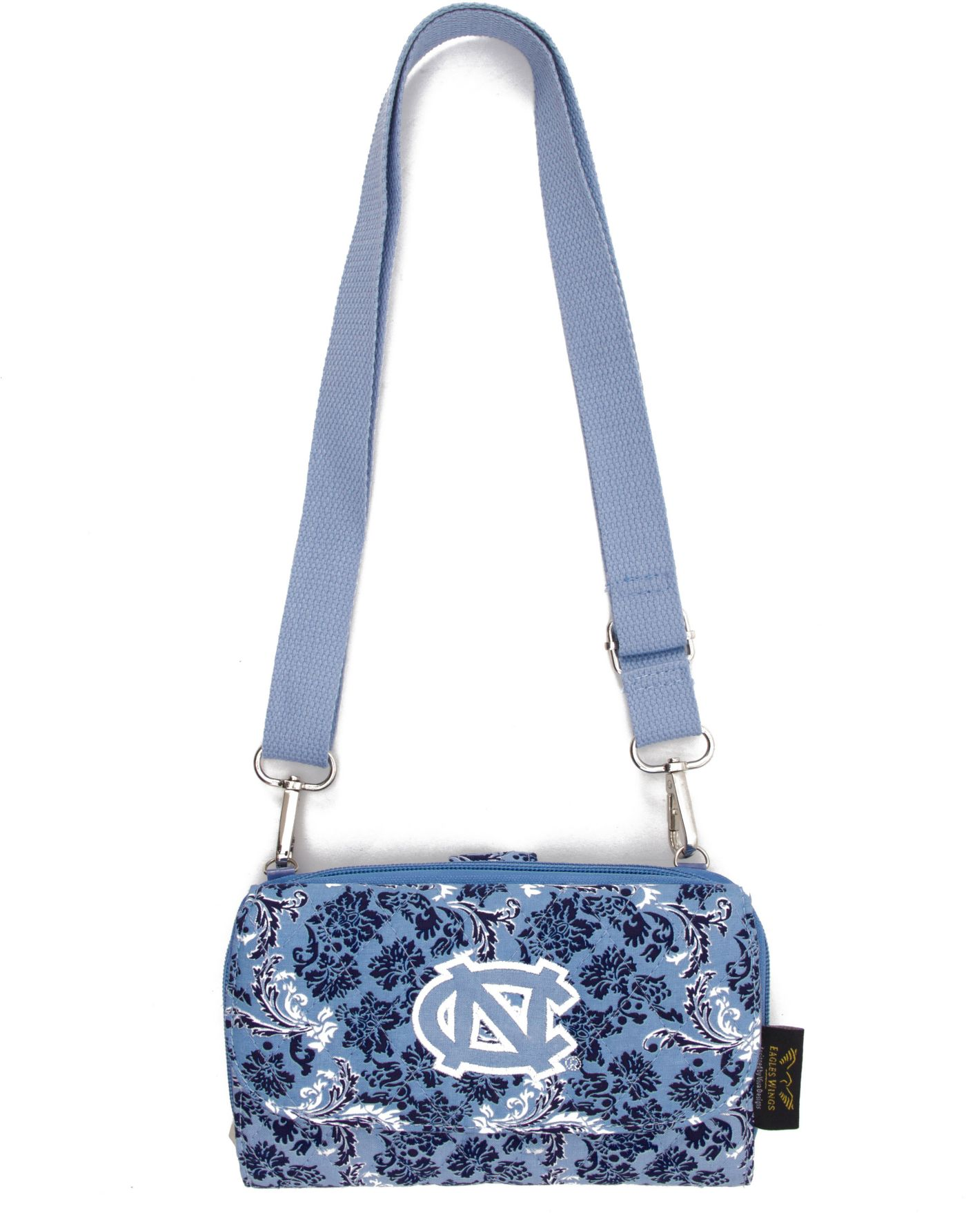 Eagles Wings North Carolina Tar Heels Quilted Cotton Cross Body Wallet