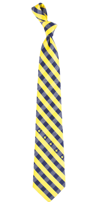 Eagles Wings Navy Midshipmen Check Necktie