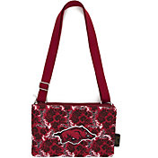 Eagles Wings Arkansas Razorbacks Quilted Cotton Cross Body Purse