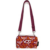 Eagles Wings Virginia Tech Hokies Quilted Cotton Cross Body Wallet