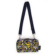 Eagles Wings West Virginia Mountaineers Quilted Cotton Cross Body Wallet