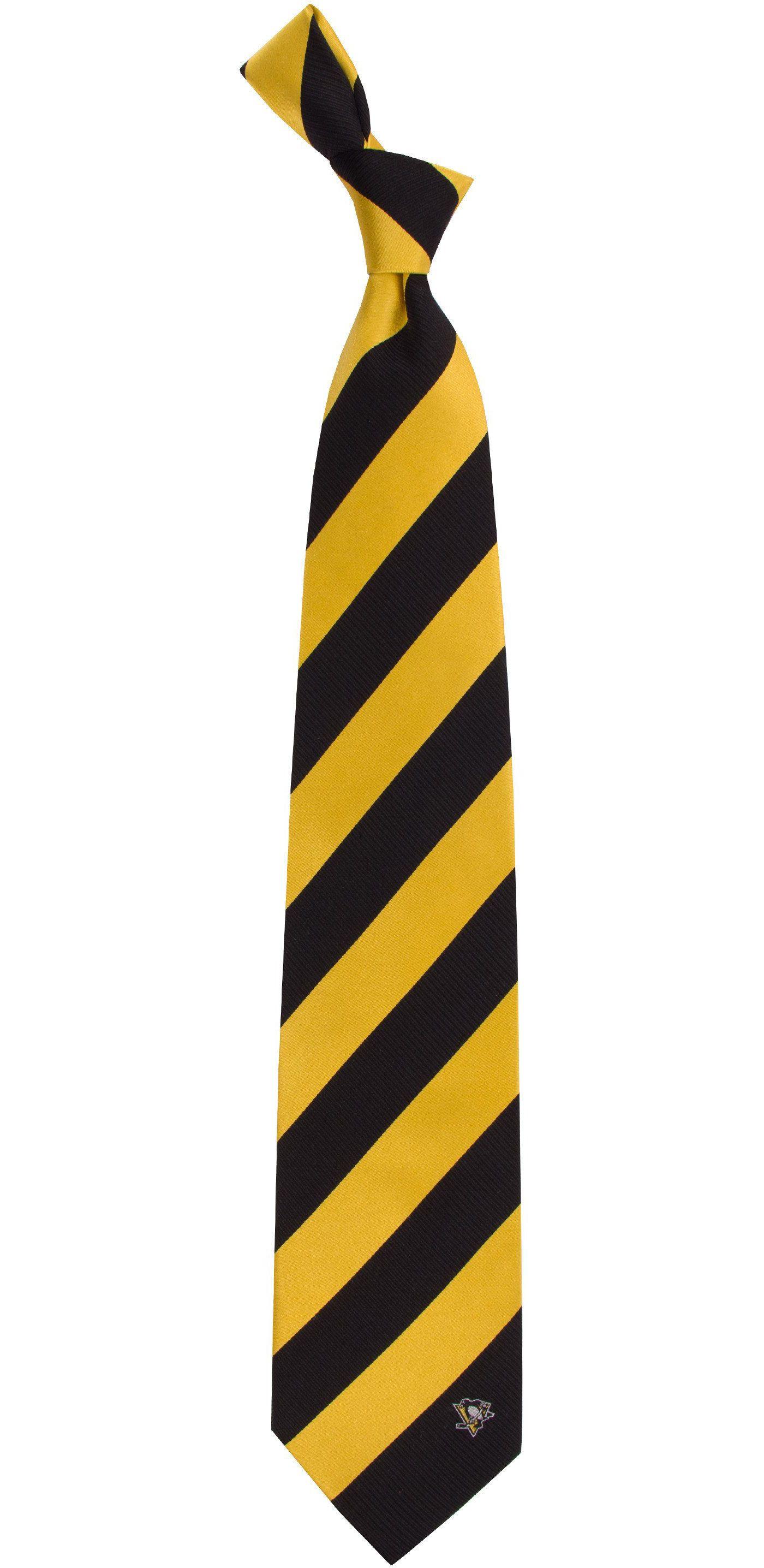 Eagles Wings Pittsburgh Penguins Woven Silk Necktie