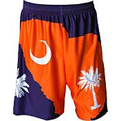 Fit 2 Win Men's Clemson Tigers Orange/Regalia State Shorts