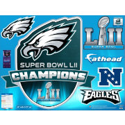 Fathead Super Bowl LII Champions Philadelphia Eagles Real Big Logo Decal