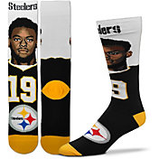 For Bare Feet Pittsburgh Steelers JuJu Smith-Schuster Selfie Socks