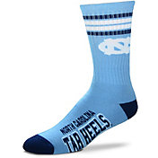 For Bare Feet North Carolina Tar Heels 4-Stripe Crew Socks