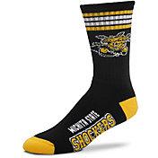 For Bare Feet Wichita State Shockers 4-Stripe Deuce Crew Socks