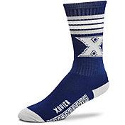 For Bare Feet Xavier Musketeers 4-Stripe Deuce Crew Socks