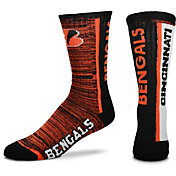 For Bare Feet Cincinnati Bengals Bar Stripe Crew Socks