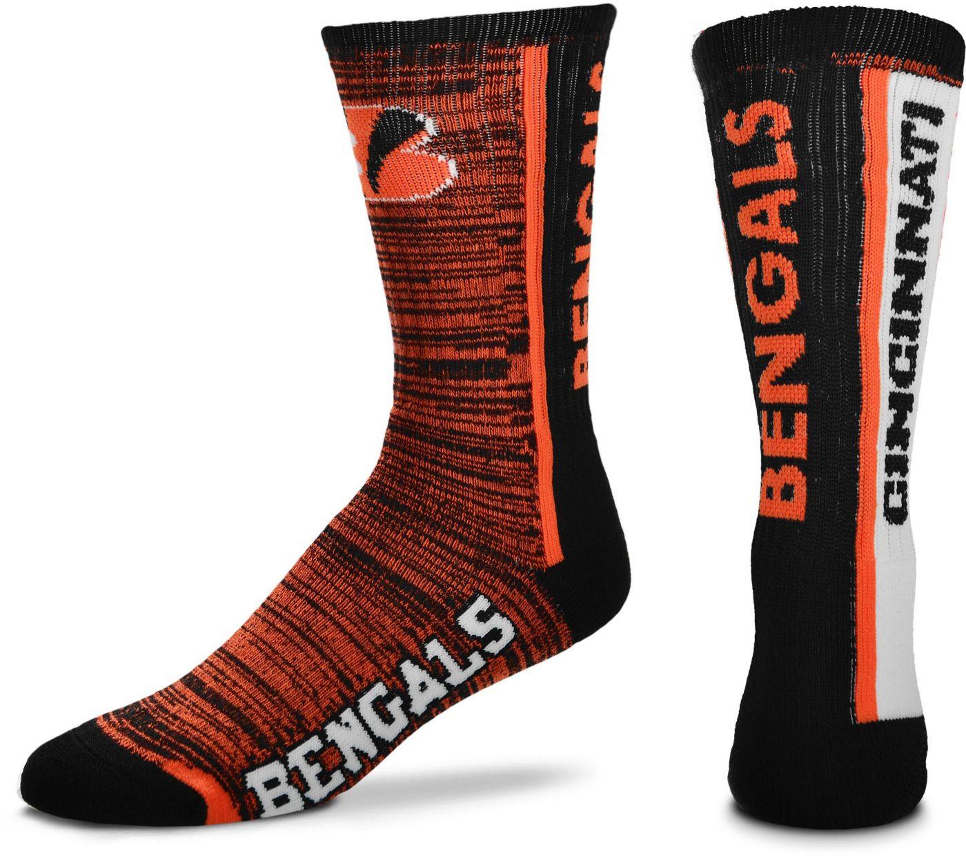 For Bare Feet Cincinnati Bengals Grey Melange Crew Socks