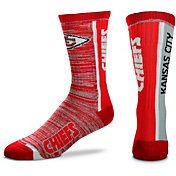 For Bare Feet Kansas City Chiefs Bar Stripe Crew Socks