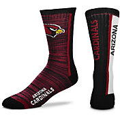 For Bare Feet Arizona Cardinals Bar Stripe Crew Socks