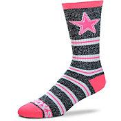 For Bare Feet Dallas Cowboys Grey Melange Crew Socks