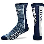 For Bare Feet Dallas Cowboys Bar Stripe Crew Socks