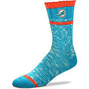 For Bare Feet Miami Dolphins Alpine Socks