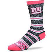 For Bare Feet New York Giants Grey Melange Crew Socks