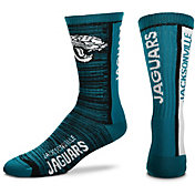 For Bare Feet Jacksonville Jaguars Bar Stripe Crew Socks